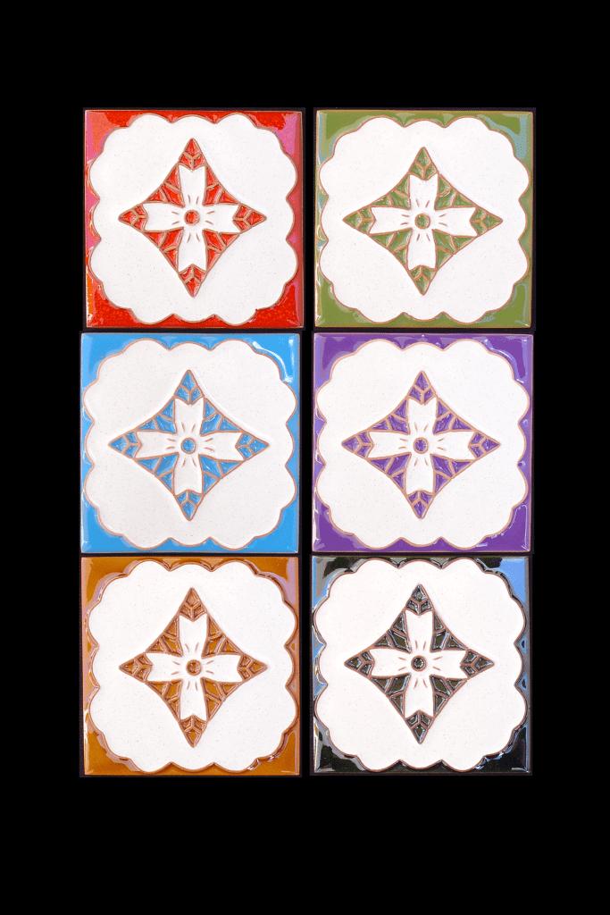 Tuiles peints avec des motifs de Madère