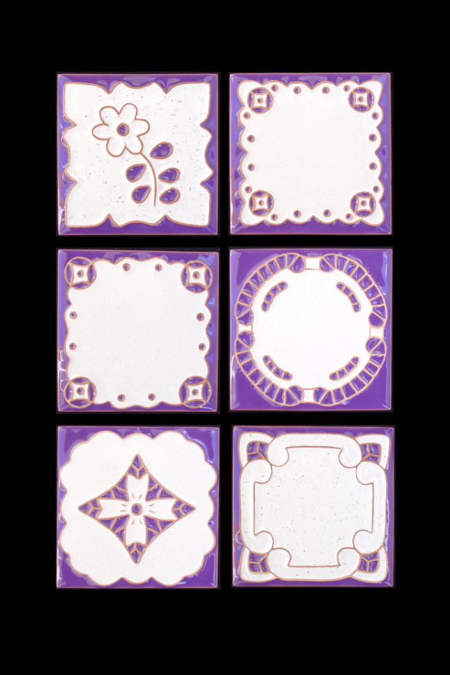 Tiles painted with motifs from Madeira